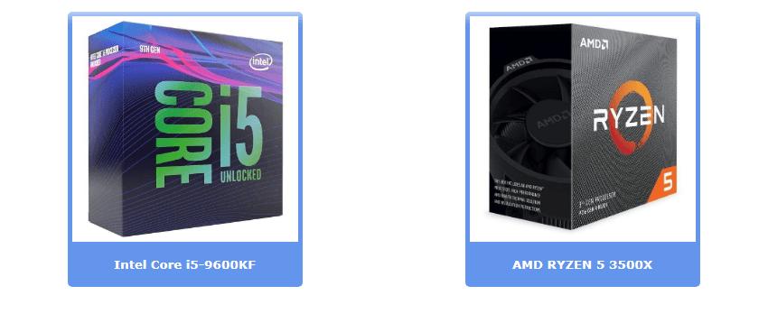 Лучшие процессоры до 175 €