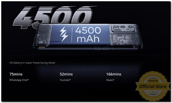 реалми GT 5G батарея